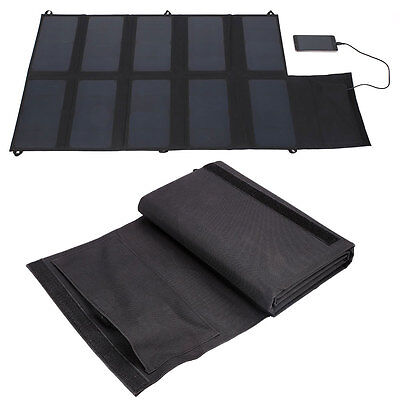 DC 12V 5V Folding Solar Panel Charging For Phones GPS Outdoors Product