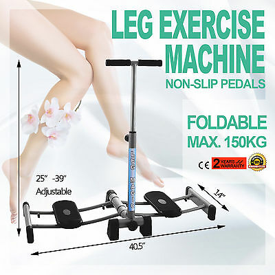 Leg Exercise Training Machine Fitness Thigh Indoor Foldable Stable Steel Frame
