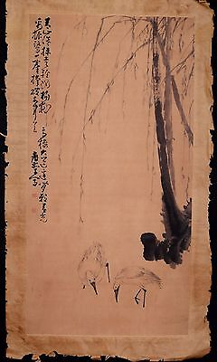 Wonderful Unique Old Chinese Landscape Hand Painting Collectible Marked KK199