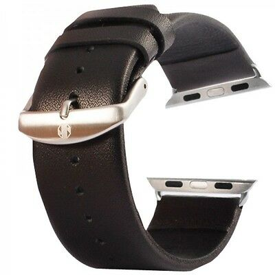 Real Leather Bracelet Black for Apple Watch Strap 1 21/32in Accessories