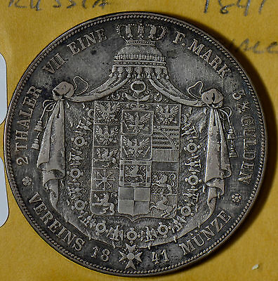 GE0070 Germany 1841 2 double Thaler Taler silver taler prussia combine shipping