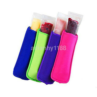 Hot 5pcs Neoprene Holder Icy Pole/Ice Lolly/Freezer Pop Sleeve Kid Protector CA