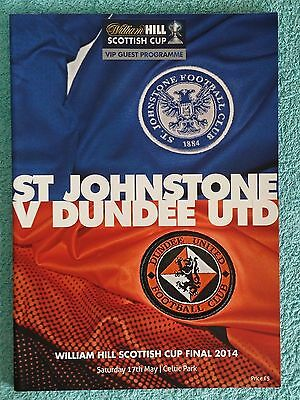 2014 - SCOTTISH CUP FINAL PROGRAMME - ST JOHNSTONE v DUNDEE UNITED - VIP EDITION