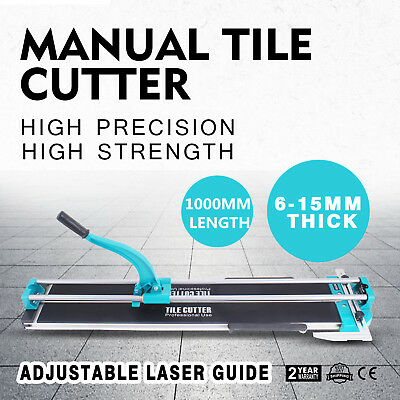 "40"" Manual Tile Cutter Cutting Machine 2.4-6 Thickness Ceramic Hand Tools"