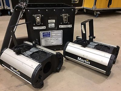 Pair of Martin Professional Mania EF1i Moonflower Lighting Effects With Case