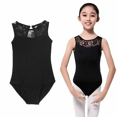 Kid Girl Sleeveless Ballet Dance Floral Leotard Dancing Clothes Bodysuit Costume