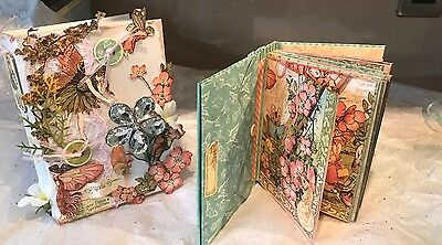 Graphic 45 Once Upon A Springtime Mini Scrapbook Album In A Matching Box