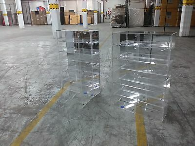 Thick Perspex Retail Lockable Display Cabinet