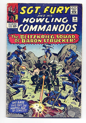 Sgt. Fury and his Howling Commandos #14 Good 1964 ~ Marvel Comic Book Stan Lee