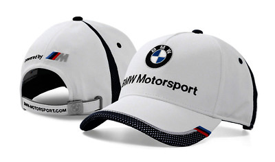 BMW Genuine Motorsport Unisex Baseball Collectors Cap Hat - White / Team Blue