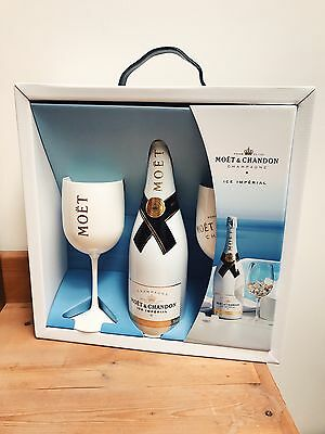 Luxury Moet & Chandon Ice Imperial Champagne Gift Set with Glasses