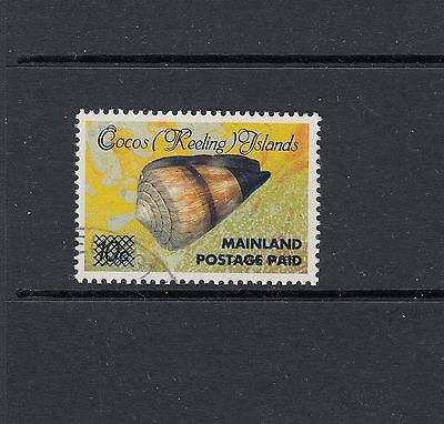 COCOS ISLANDS: 1990-91 Surcharges (43¢) on 10¢ Shell second print SG 235, VFU.
