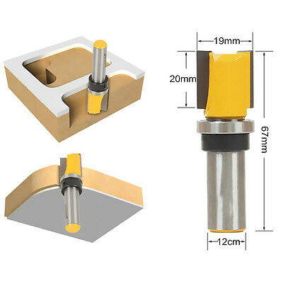 "Dia 3/4"" x Height 3/4"" Mortise Template Trim Flush Router Bit Cutter 1/2"" Shank"