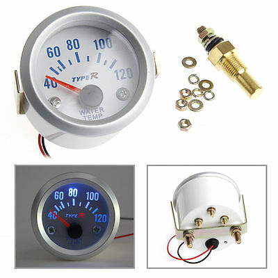 2'' 52mm Auto Electrical Digital Pointer Water Temperature Meter Gauge 40-120℃