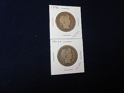 1899 + 1912-S Barber Half Dollars (cs)
