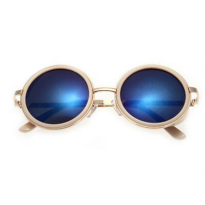 Outdoor Vintage Men Women Retro Round Mirrored Eyewear Sunglasses Sports Glasses