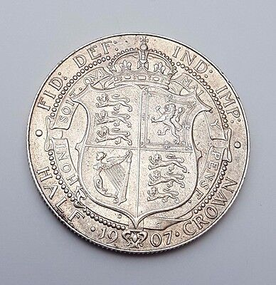 1907 - Silver - Half Crown - Great Britain - King Edward VII - English UK Coin