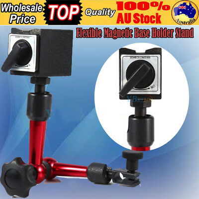 Flexible Magnetic Base Holder Stand Tool For Dial Indicator Test Gauge