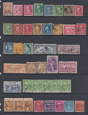USA - from earlies - Collection of 212 mint & used stamps - on 6 pages