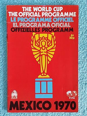1970 - Official World Cup Tournament Programme
