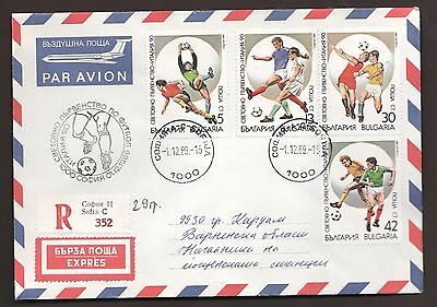 Football. World cup Italy 1990. Two mailed FDC, Bulgaria