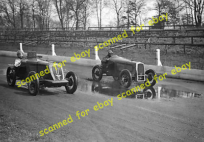 Photo - Crystal Palace motor racing, two women speedway drivers, April 1934