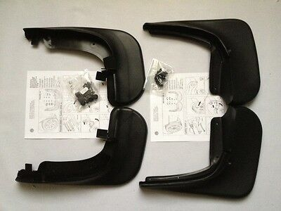 New Genuine Vw Caddy 2004-2014 Front & Rear Mud Flaps Set
