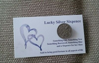 Brides lucky sixpence