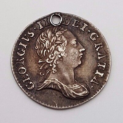 Dated : 1763 - Silver Coin - Threepence / 3d - King George III - Great Britain