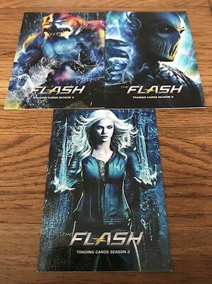 An The Flash Season 2 Promo Karten Set 3 P2,P3 & P4