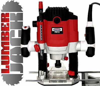 "Lumberjack Heavy Duty 1800W 1/2"" Electric Plunge Router with Variable Speed 240v"