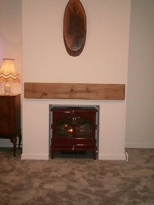 Rustic Oak Beam Fascia Mantle Piece for Fireplaces – Free Fixings – many sizes!