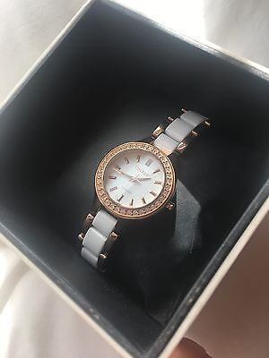 DKNY White And Rose Gold Watch