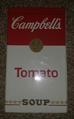 """Vintage Campbell's Tomato Soup Sign Metal Tin 20""""  Burner Cover Store Display"""