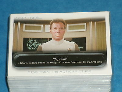 Star Trek - Movie - The Quotable - Complete Trading Cards SET (90) - 2010 - NM
