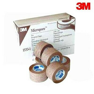 Genuine 3M Micropore TAN Surgical Tape 2.5cm x 9.1m - 1 ROLL