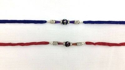 Simple Diamante and Beaded Rakhi– Rakhi Thread/Rakhi Bracelet/Bhaiya Series