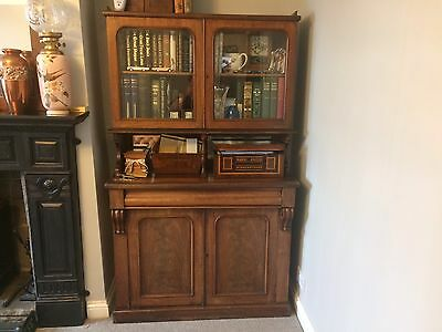 Victorian Mahogany Bookcase Dresser Display Cabinet