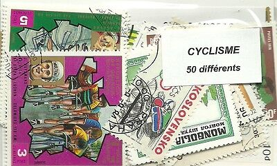 """Lot timbres thematique """" Cyclisme"""""""
