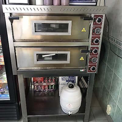 Electric Pizza Oven Double With Stand