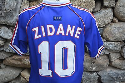 Maillot Equipe foot Football FRANCE Adidas ZIDANE Mondial 98 vintage XL