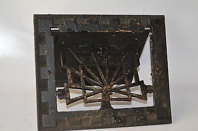 Vintage 1907 Salvage Iron Steel Floor Wall Louvered Register Vents Wall Vents