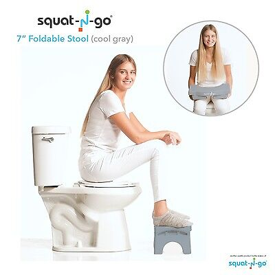 "Foldable Toilet Excrement Squatting Stool Squat 7"" Pot Baby Constipation Bending"