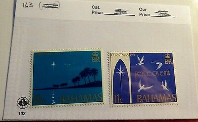 Bahamas 1971 Christmas Issue Mint Stamps  ST43