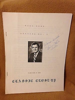 CLASSIC CLOSE-UP by Bill Okal Lecture No. 1 1980 SIGNED
