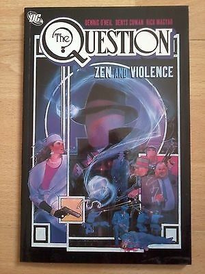 THE QUESTION  ZEN and VIOLENCE Vol 1. RARE DC COMIC Softback Graphic Novel.