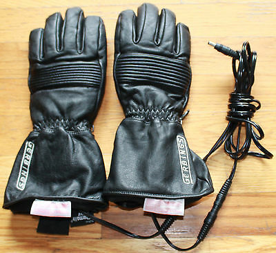 Gerbings Women's Small Heated Leather Waterproof Thermolite Motorcycle Gloves