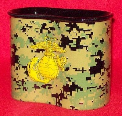 New Us Marine Usmc Camo Ceramic Coffee Mug In The Style Of A 1 Qt Canteen Cup