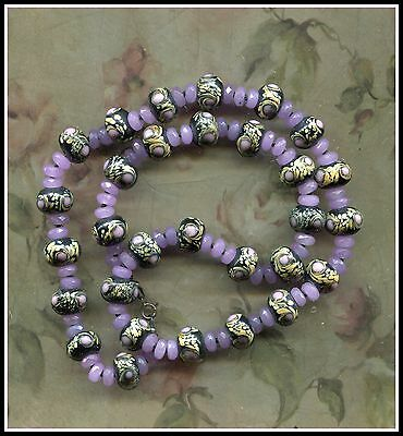 Art Deco Amazing - Truly Amazing Glass Bead Necklace -Sterling 925 Clasp