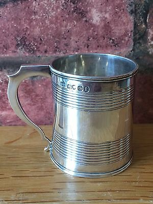 Antique 1827 Georgian Silver Miniature Christening Tankard by Benjamin Smith II